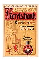 """ Kerelsdrank ""印刷(ブラックフレーム入りポスタープリント20x 30)"