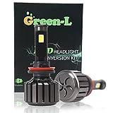 Green-L 車検対応 H11/H8/H9/H16J LEDヘッドライトバルブ/フォグランプ COBチップ搭載 12V 24V 6000K 90W 9000LM 2本セット