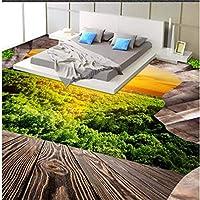 Wuyyii 風景核分裂床効果三次元背景絵画寝室浴室厚い防水 - 280×200センチ