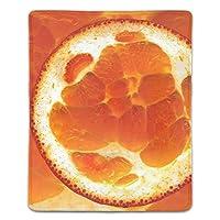 マウスパッド おしゃれ サンシャインオレンジ マウスの精密度を上がる