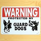 プラスチック サインボード ガイド標識 WARNING 番犬に注意