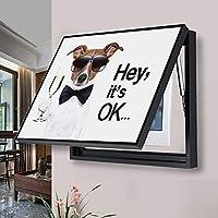 電気メーター装飾壁画 電気ボックス電気メーターボックス装飾カバーマルチメディアボックス絵画配電ボックス メーターボックス装飾画 (Color : Black, Size : 60x50cm)