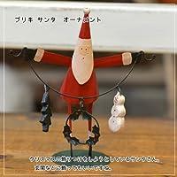 クリスマスオーナメント 「ブリキサンタ クリスマスツリーを飾るサンタ」