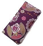 iphone7ケース(アイフォン7ケース)和柄で高品質の手帳型ケース 高級品の刺繍縫い(西陣織) (アイフォン7, 紫)