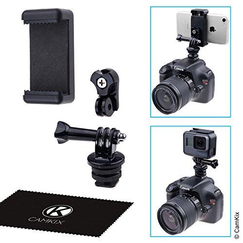 ホットシュー- お持ちの電話機やGoPro HeroをDSLRカメラのフラッシュマウントに取りつけ