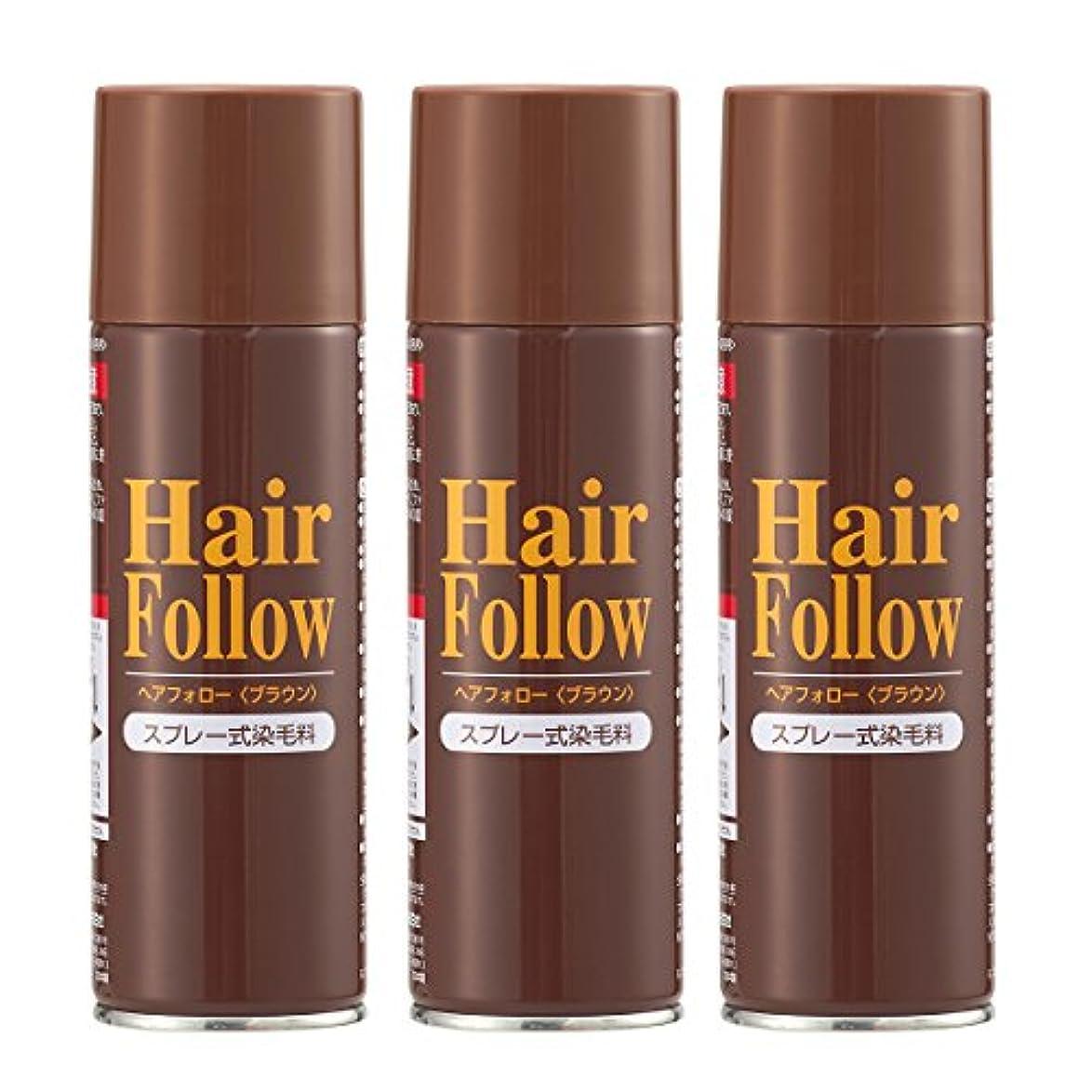 やさしい極めて重要なエネルギーヘアフォローブラウン3本組