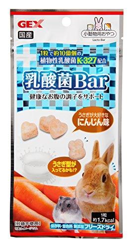 ジェックス 乳酸菌バー(Bar) にんじん 12粒 うさぎ・小動物用フリーズドライおやつ