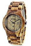 腕時計 メンズ 木製ウォッチ 天然木 ドレス カジュアル プレゼントウォッチ ファション 軽い