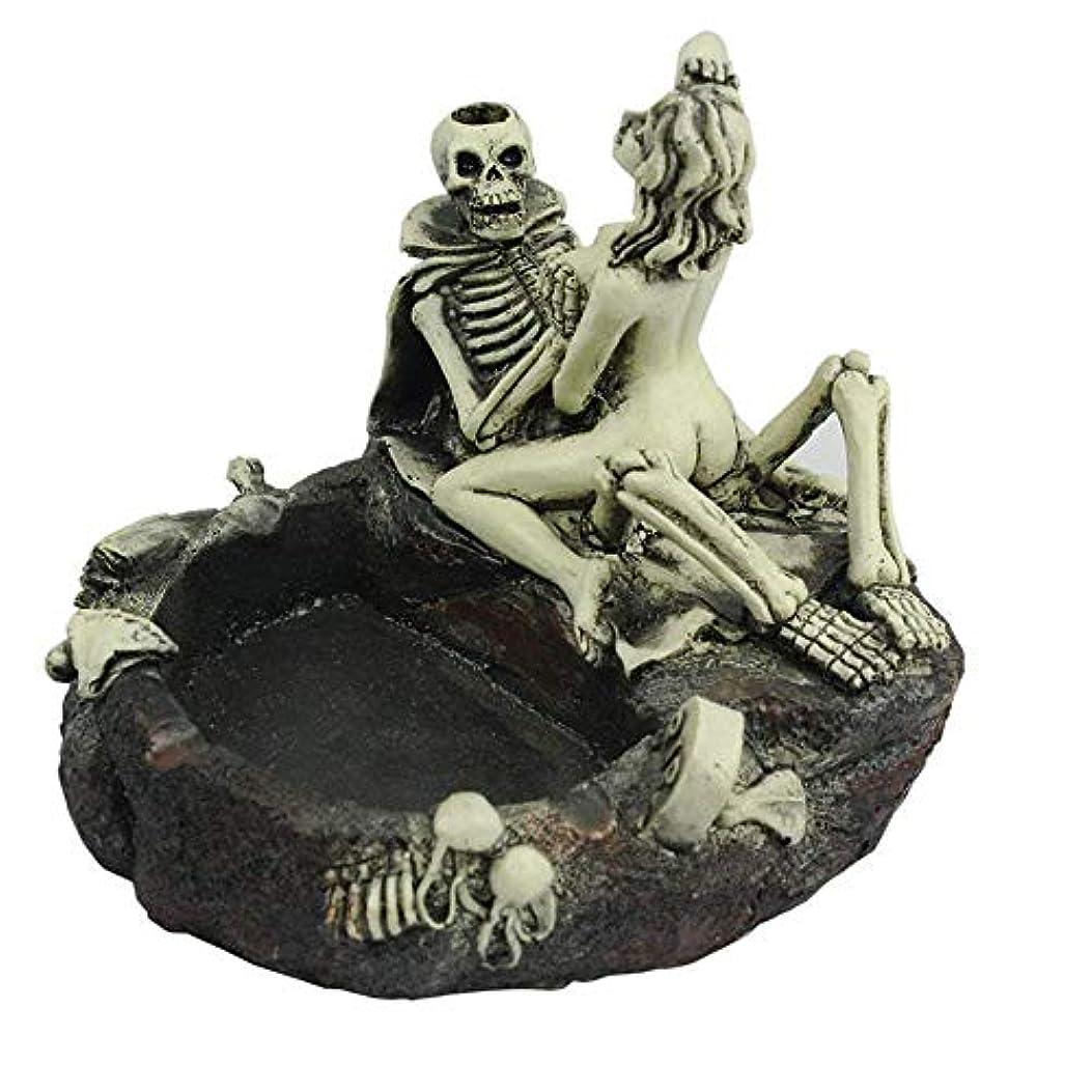 日付付きトラップ木材創造的な人格スケルトンのテーマ灰皿のスケルトン美しさの楽しい灰皿ボーイフレンドの楽しい装飾のギフトを送る