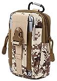Norph(ノーフ) コンパクトベルトポーチ カラビナ付きでリュックやバッグに取り付け可能モデル ( iphone6 plus 以下のサイズに対応) (デザート迷彩)