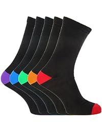 (フロソ) FLOSO メンズ ブラック コットンリッチソックス 紳士靴下セット ソックスセット (5足組) 男性用