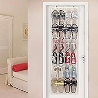 phantomon 24ポケットover theドア靴オーガナイザーホワイトクリアMサイズ靴オーガナイザー