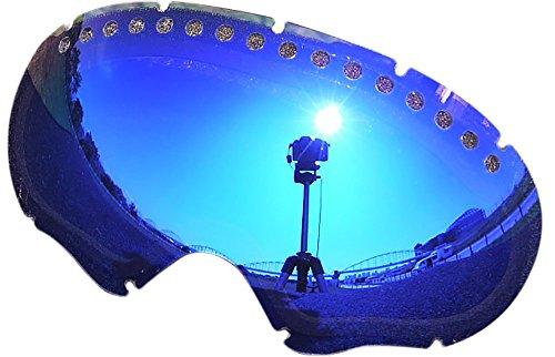 オークリー A FRAME1.0 ゴーグル用交換レンズ BLUE MIRROR