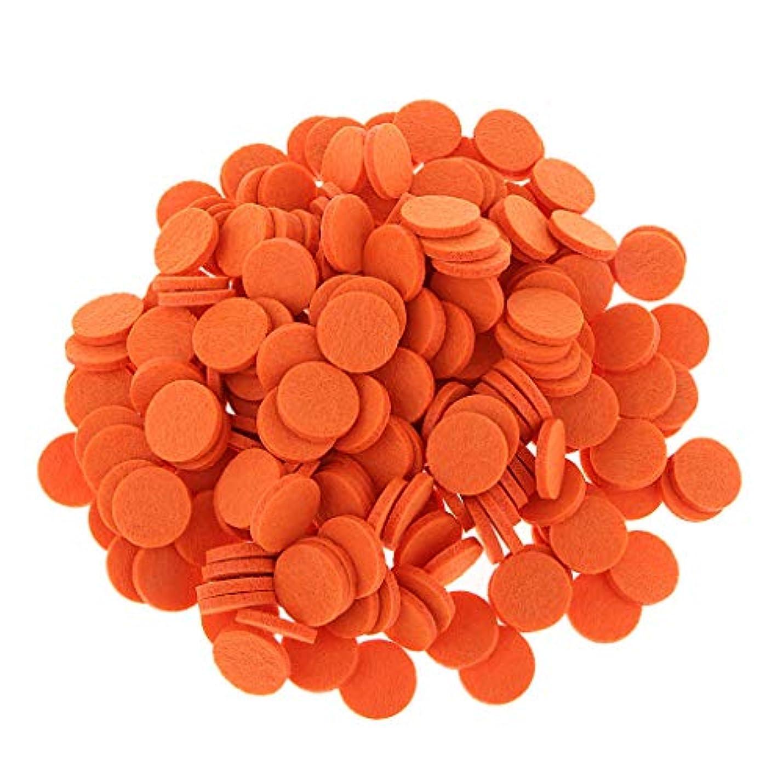 思想しないでください遅いディフューザーパッド アロマパッド パッド 精油 エッセンシャルオイル 香り 約200個入り 全11色 - オレンジ