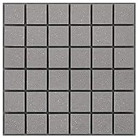 46mm角床用無釉モザイクタイル 【レギュラーカラー】 1シート 表紙張り 46-MAU-4S