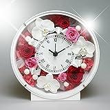 PRECIOUS FLOWER プリザーブドフラワー お花の時計 胡蝶蘭 PSYH-01191 (ピンク)