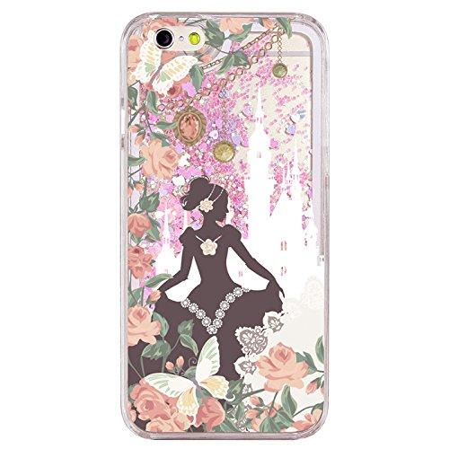 iPhone6S iPhone6 キラキラ グリッターケース ピンクハート 童話 [デザイン:02.シンデレラ] iphone6s ケース iphone6 ケース アイフォン6s ケース アイフォン6 ケース きらきら スノードーム きれい iphone6s カバー iphone6 カバー