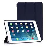 Apple iPad Mini 3, 2 ,1 ケース - ATiC iPad Mini3 (2014), Mini2 (2013 ),Mini (2012)タブレット専用開閉式三つ折薄型スタンドケース。 INDIGO (オートスリープ機能付き)(iPad mini 4に適応ない)