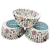 OUNONA ベーキングカップ クリスマス マフィン型 ケーキ型 紙製 カップケーキ 焼型 100個