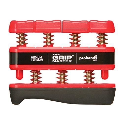 【国内正規輸入品】Prohands プロハンズ ハンド・エスクササイザー GRIP MASTER グリップマスター GM-14002ミディアム/RD