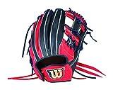 Wilson(ウイルソン) 女子ソフトボール用グラブ Wilson Queen (ウイルソン クイーン) 内野手用 WTASQP5DH Eオレンジxネイビー (2250) 6S