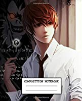 Composition Notebook: Death Note Soft Glossy Cover Wide Ruled Lined Pages Book 7.5 x 9.25 Inches 110 Pages