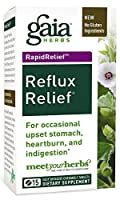 Gaia Herbs RapidRelief Reflux Relief Tablets, 15-Count Bottle , Pack of 2 by Gaia Herbs