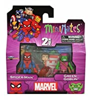MiniMates: Marvel Best of Series 1 Spider-Man and Green Goblin Mini Figure 2-pk [並行輸入品]
