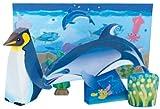 【ペーパークラフト】オウサマペンギン&カマイルカ(10入)  / お楽しみグッズ(紙風船)付きセット