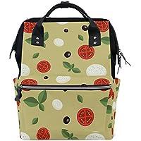 ママバッグ マザーズバッグ リュックサック ハンドバッグ 旅行用 トマト柄 ファション