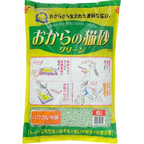 常陸化工 おからの猫砂グリーン6L