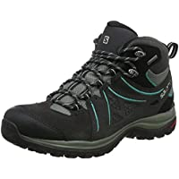 Salomon Women's Ellipse 2 Mid Gore-Tex Hiking Boot, Phantom/Castor Gray/Aruba Blue