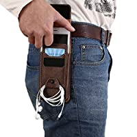 YULPING ウエストバッグレジャーヴィンテージ多機能電話ケース財布クロスボディバッグ男性用 ハンドバッグ (Color : 4.7 Inches Brown)