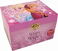 Disney Frozen Winter Wishes Wind Up Music Box with Elsa and Anna [並行輸入品]