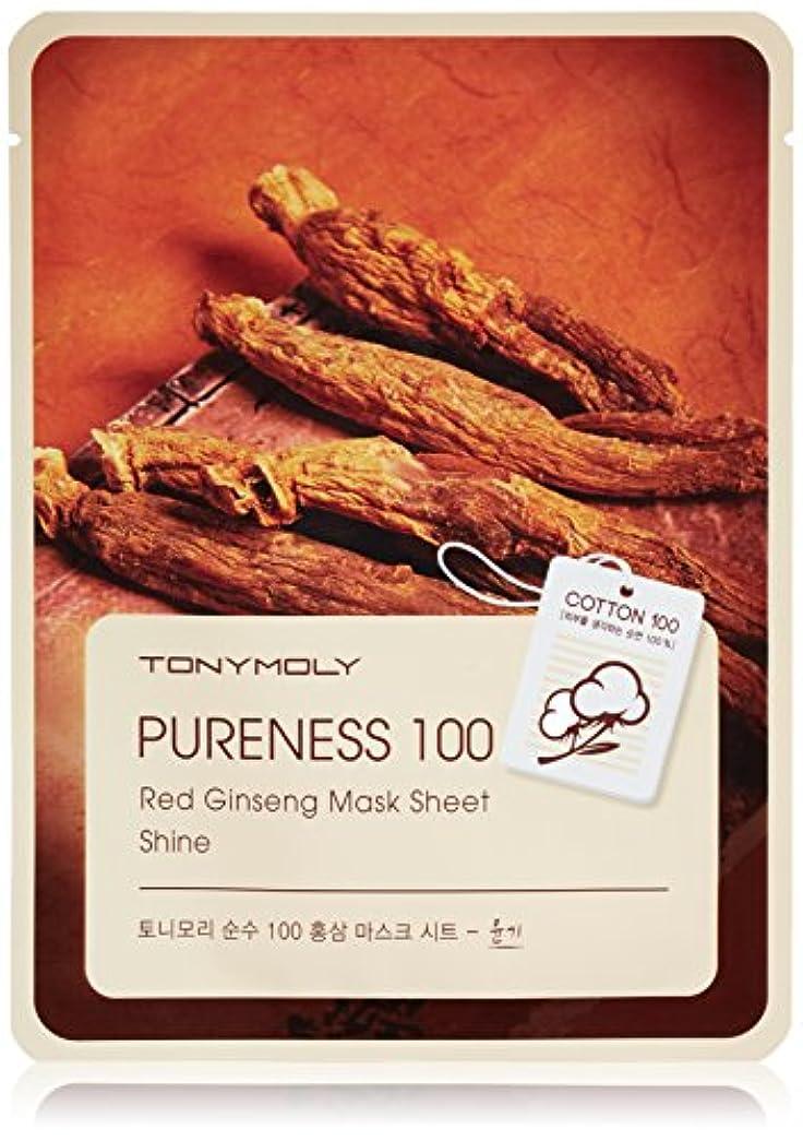 パンダタックドレインTONYMOLY Pureness 100 Red Gingseng Mask Sheet Shine