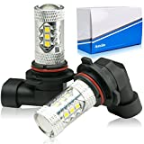[AutoSite] 80w HB4 イエロー LED フォグランプ 高輝度 LEDバルブ SAMSUNG 簡単取付 無極性 プロジェクターレンズ 搭載 12v 普通車用 - 2,980 円