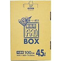 箱入りポリ袋 PRO BOX 45L 100枚入 3層半透明 PA43