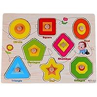 Rolimate木製ペグパズルバンドルの形のおもちゃ