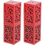 Homyl 2個入 口紅チューブ リップスティックチューブ 内径1.21cm 金型 おしゃれ プレゼント 手作り 全2色 - 赤