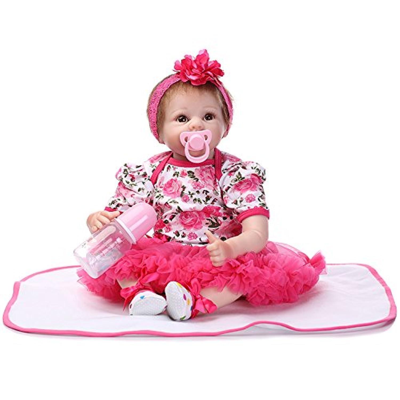 ピンキーRealistic Looking 55 cm 22インチソフトビニールシリコン人形Real Life Like Reborn Dolls赤ちゃん磁気口ダミー