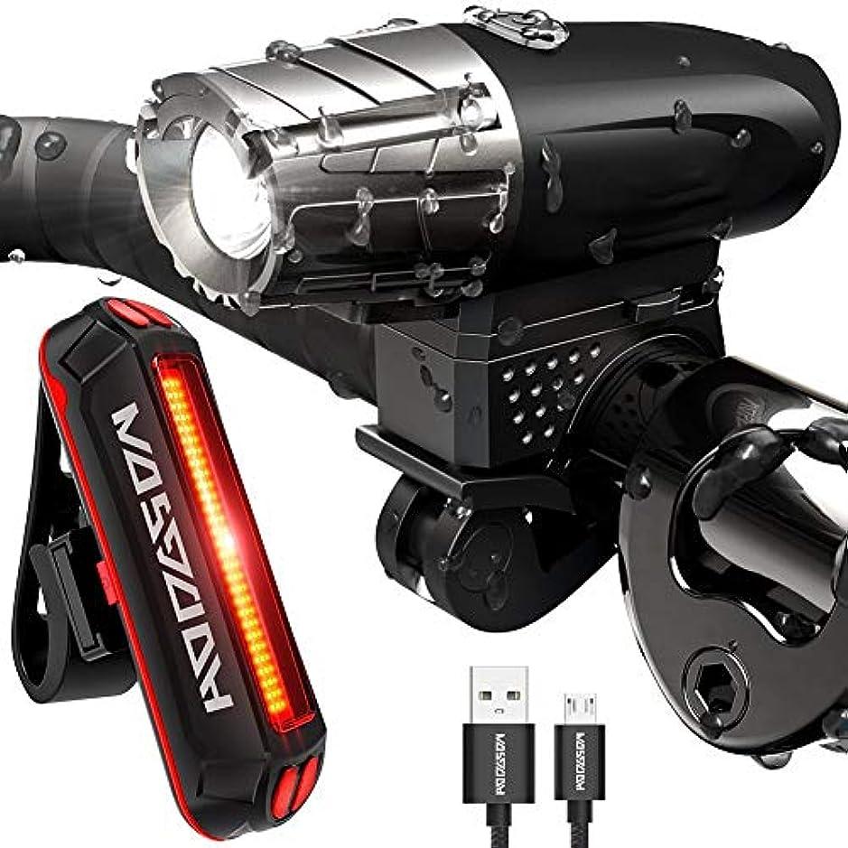分泌する時折スカウトLED自転車ライトセットUSB充電式防水300ルーメン超明るい光