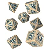 Q WORKSHOP Pathfinder Mummy's Mask RPG Ornamented Dice Set 7 Polyhedral Pieces