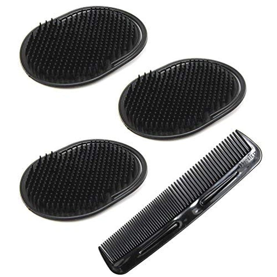悪化するアダルトフォアタイプLuxxii (4 Pack) Hair Scalp Massage Shampoo Palm Brush Massager with 5
