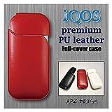アイコス レザーケース ボルドーレッド 赤 レッド IQOS ケース レザー 本体 保護 チャージャー レザーポーチ フルカバー ハード カバー ジャケット iQOSケース 加熱タバコ アイコスケース アイコスカバー