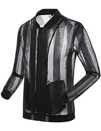 maweisong 男子軽量の夏のスキンのコートの太陽保護アウトドアジャケット