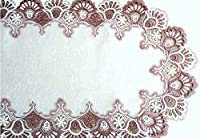 Mauve Rose Lace Dresser Scarf Table Runner Pink 90cm Doily