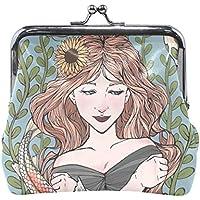 がま口 財布 口金 小銭入れ ポーチ 少女 鯉 Jiemeil バッグ かわいい 高級レザー レディース プレゼント ほど良いサイズ