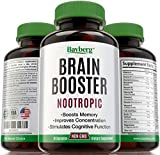 Natural Nootropic & Brain Booster. Cognitive Stimulator & Neuronal Enhancer for Memory, Focus & Clarity. Proprietary Blend for Mental Performance with Vitamins, Antioxidants, L-Glutamine, DHA & DMAE by Bayberg