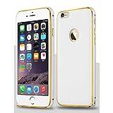 【 iphone6s / 6s plus対応 】4 色 iphone 6 / 6 plus レザー アルミバンパー ケース スマホ アイフォン カバー クロコダイル (ホワイト, iphone6(iphone6s))