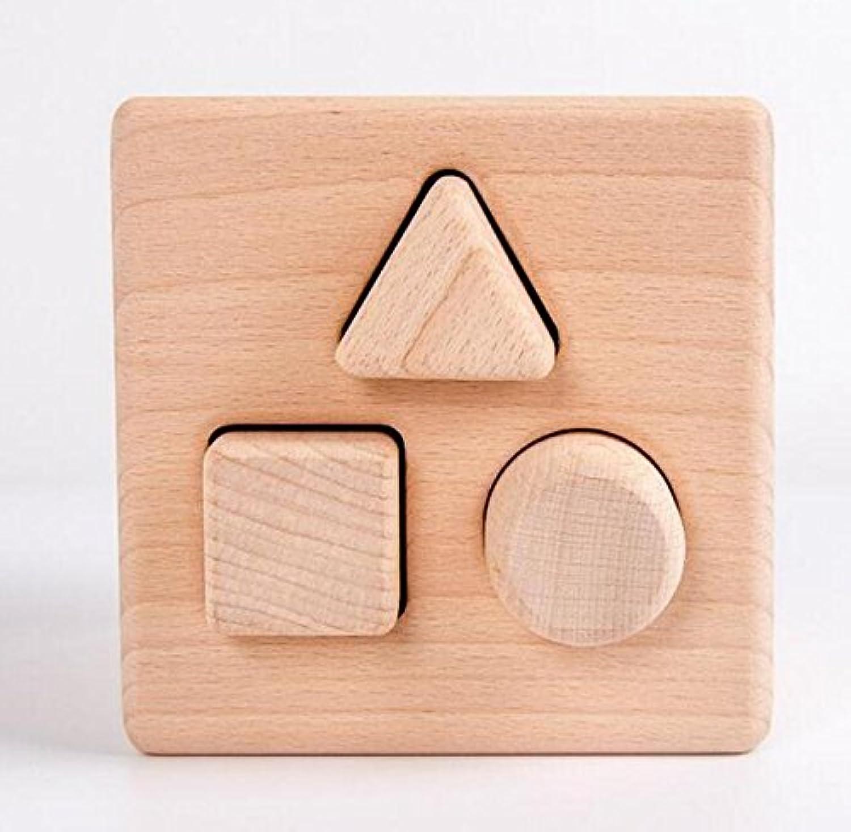 HuaQingPiJu-JP ブランドNewWoodenシェイプソーター幾何学ソートボックス子供のための教育形状色認識玩具